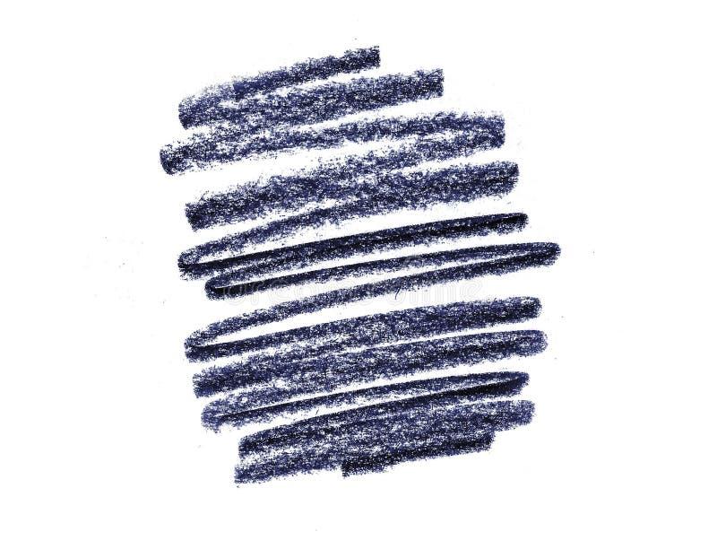 白色背景形状的深紫色铅笔 免版税库存图片