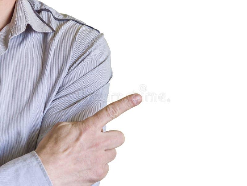 白色背景的半商人 免版税库存图片