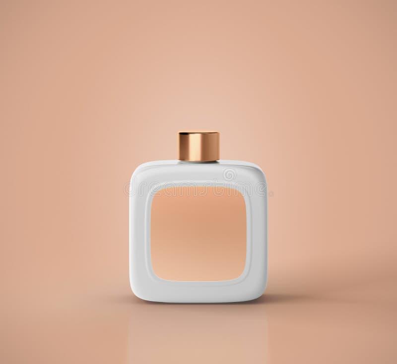白色芬芳香水瓶大模型 库存例证