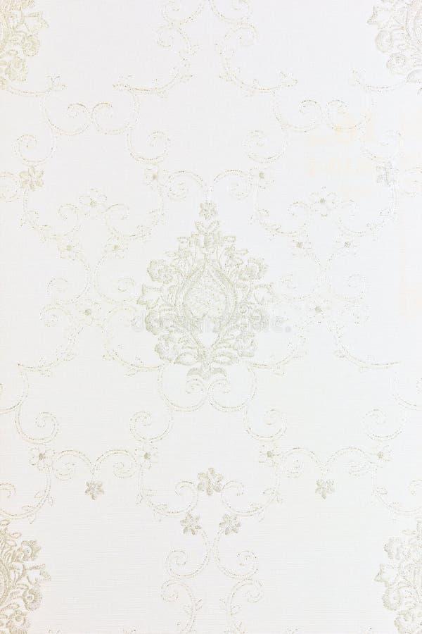 白色花卉墙纸backgound纹理 图库摄影
