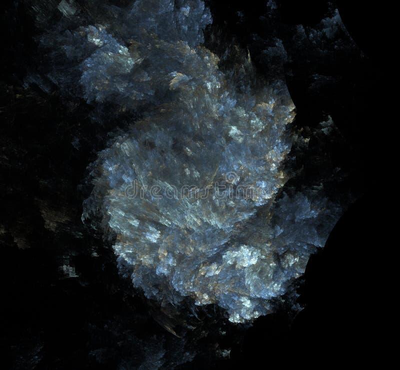 白色蓝灰色分数维背景 幻想分数维纹理 abstact艺术深深数字式红色转动 3d翻译 计算机生成的图象 皇族释放例证