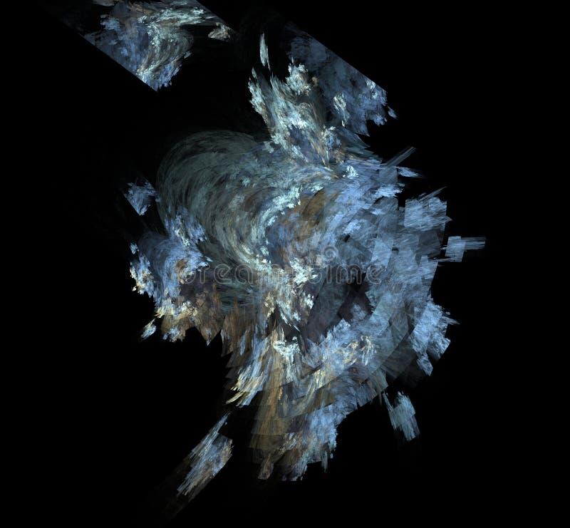 白色蓝灰色分数维背景 幻想分数维纹理 abstact艺术深深数字式红色转动 3d翻译 计算机生成的图象 向量例证