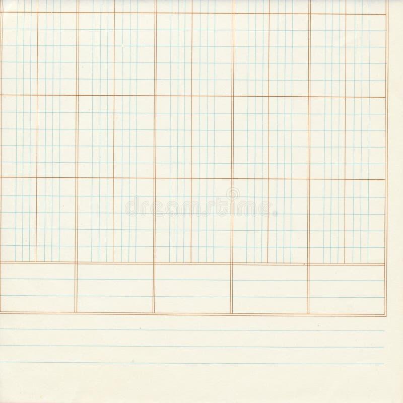 白色蓝色总帐或座标图纸数字 免版税库存图片