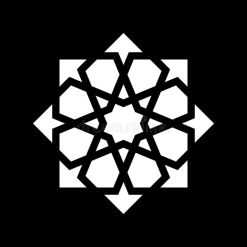 白色蔓藤花纹装饰品 库存例证