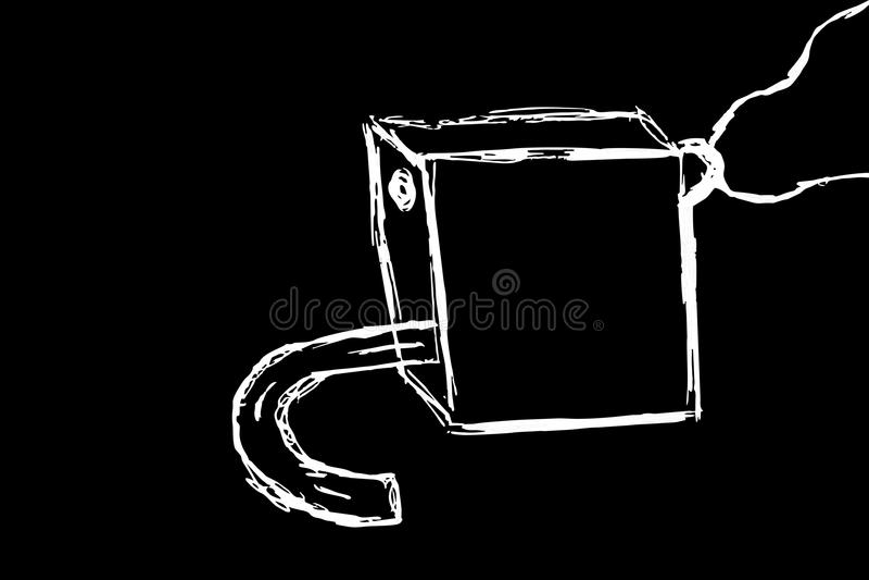 白色衣物柜艺术 图库摄影