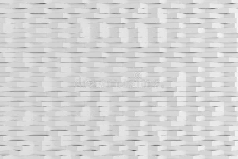 白色表面无光泽的塑料抽象3D翻译挥动 皇族释放例证