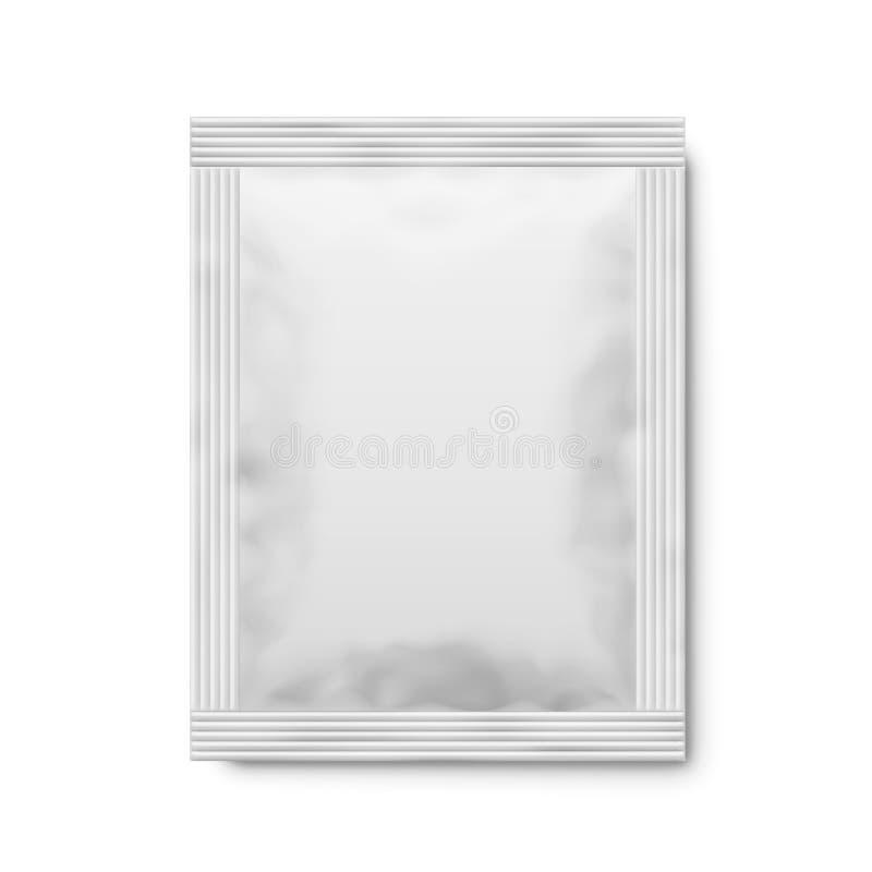 白色表面无光泽的纸袋 向量3d例证 皇族释放例证