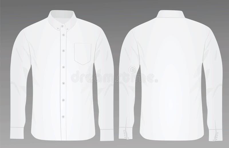 白色衬衣侧视图 皇族释放例证