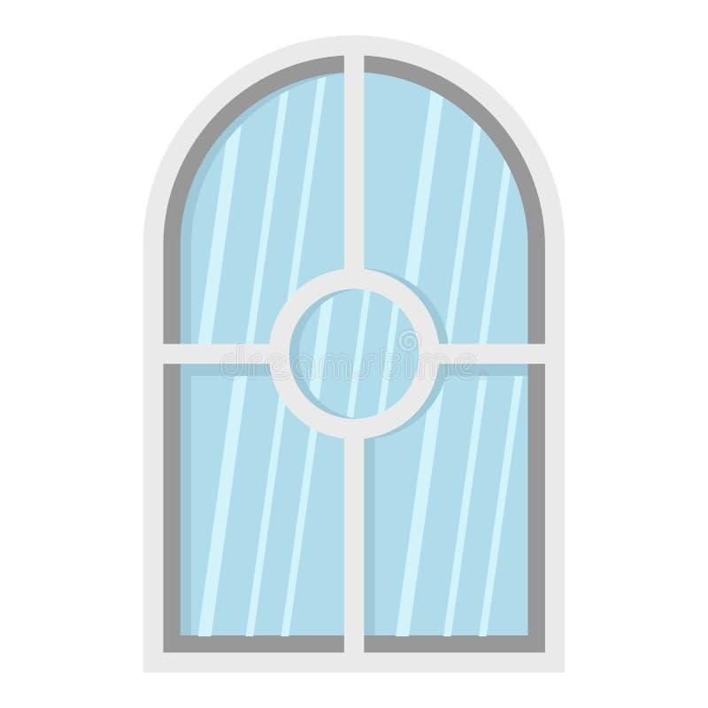 白色被成拱形的窗口象 向量例证