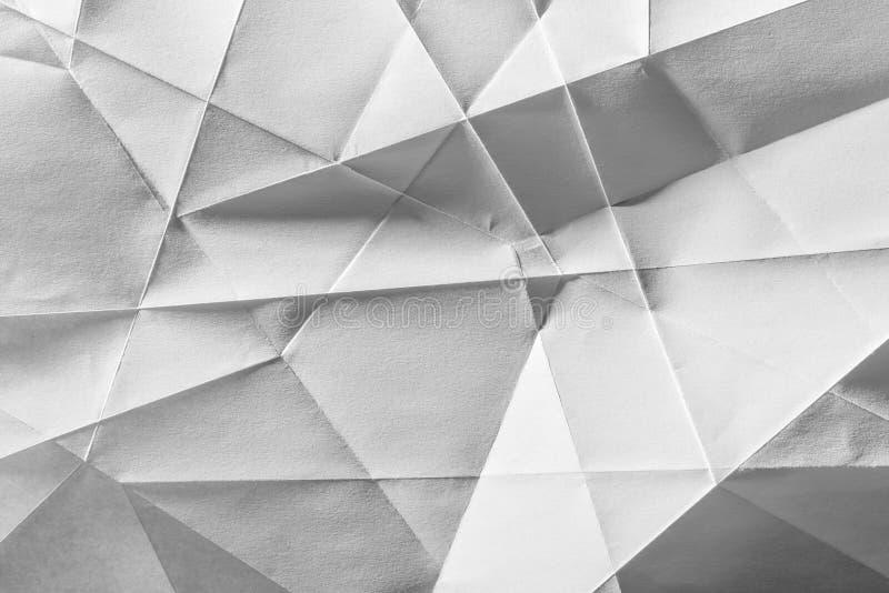 白色被折叠的纸 库存图片