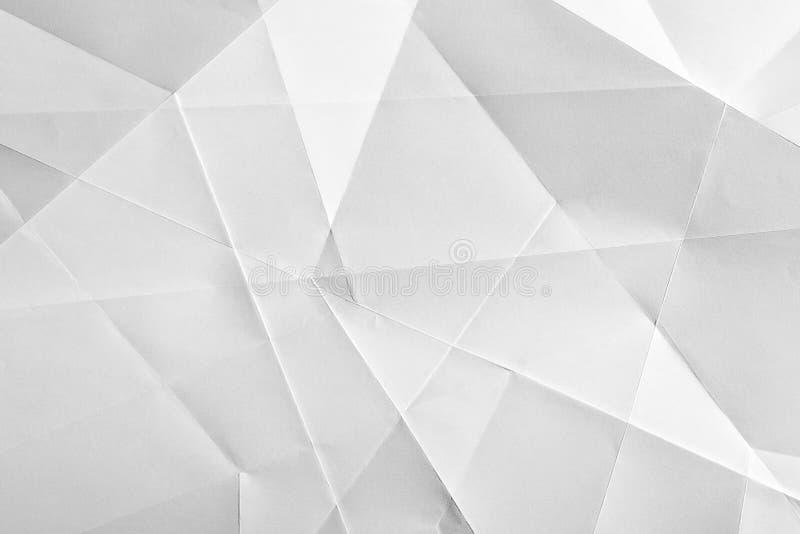 白色被折叠的纸 库存照片