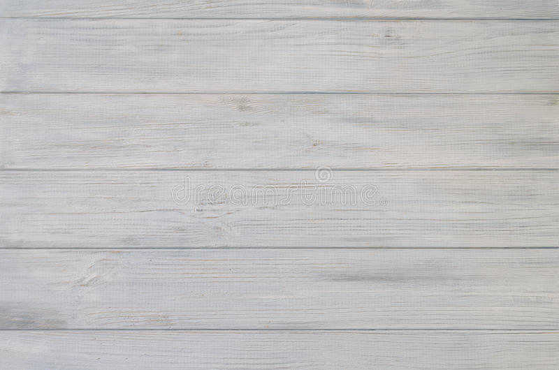 白色被绘的木委员会纹理和背景 免版税库存照片