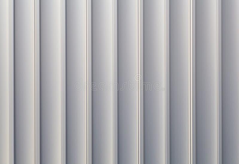 白色裂片波纹状的金属 库存照片