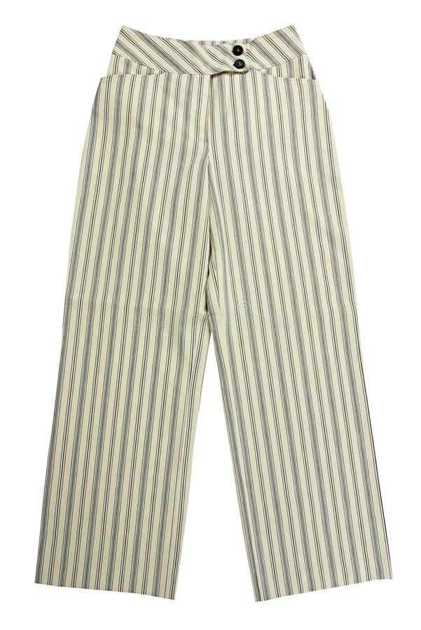 白色裤子 免版税库存图片