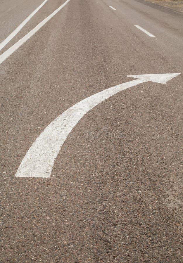 白色路标记 免版税库存照片
