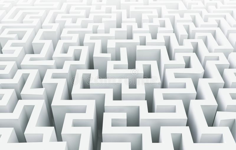 白色迷宫背景, 3d翻译 皇族释放例证