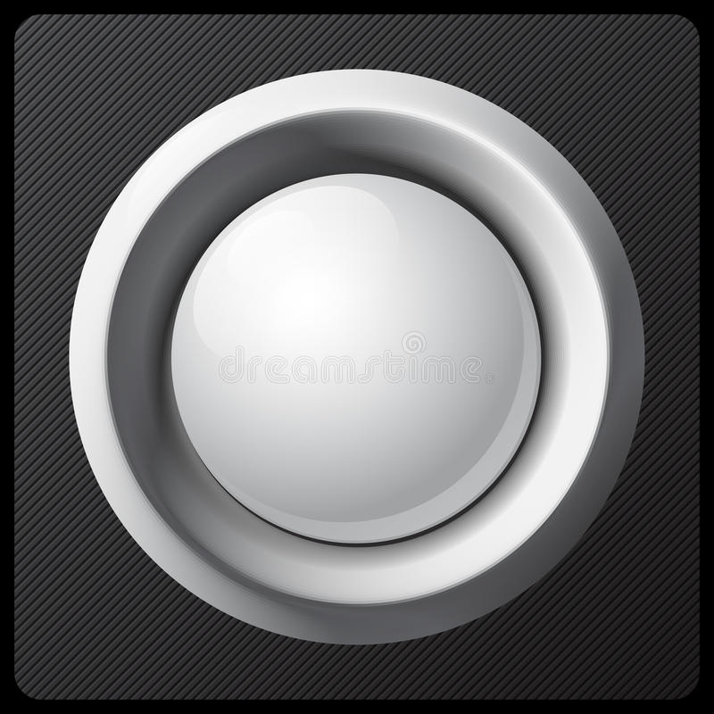 白色被遮蔽的塑料按钮传染媒介模板 向量例证