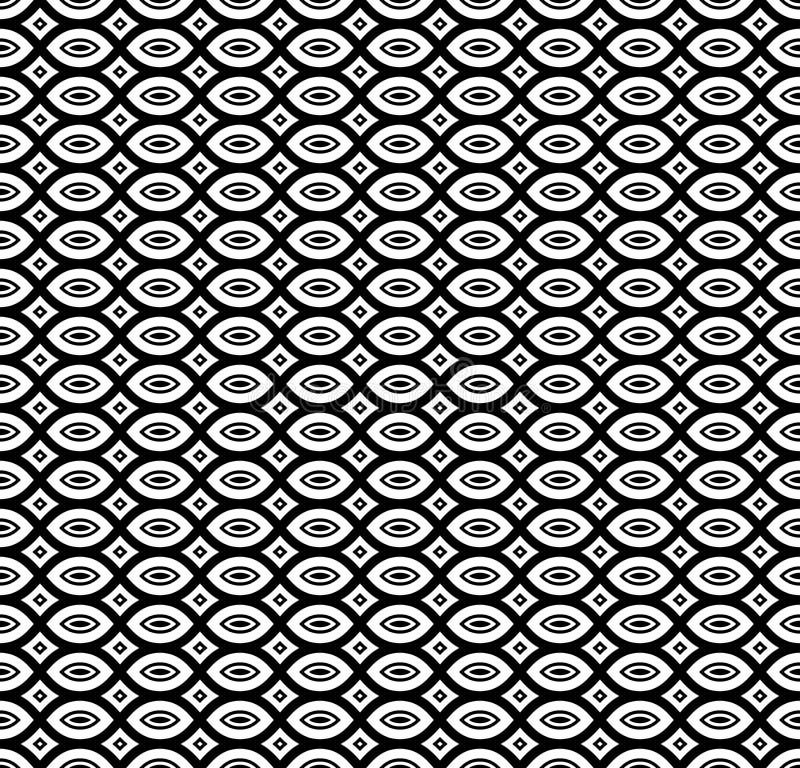 黑&白色重复装饰物纹理 向量例证