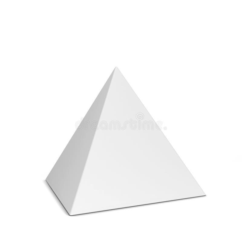 白色金字塔图 库存例证