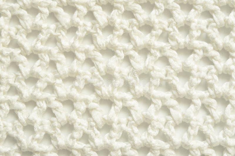 白色钩针编织布料 免版税库存图片