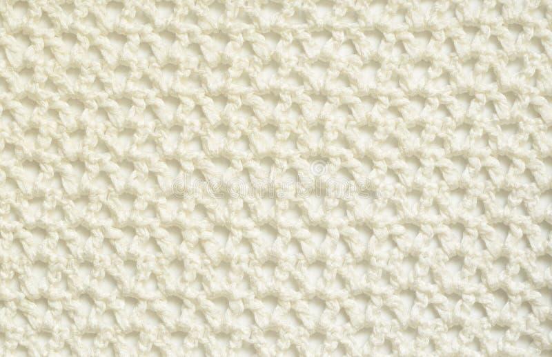 白色钩针编织背景 免版税库存照片