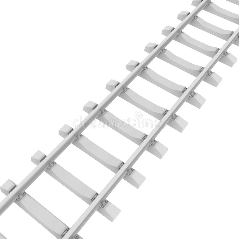 白色铁路 向量例证