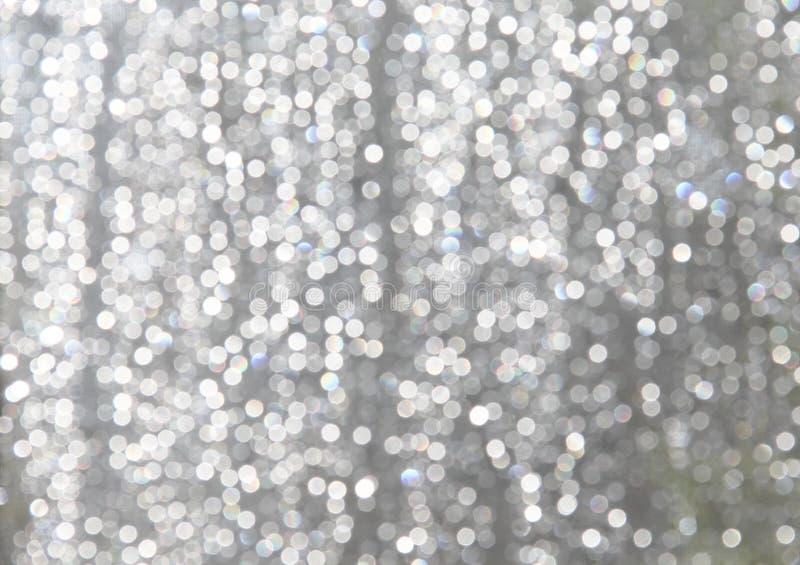 白色闪耀有轻蓝灰色背景 免版税库存图片