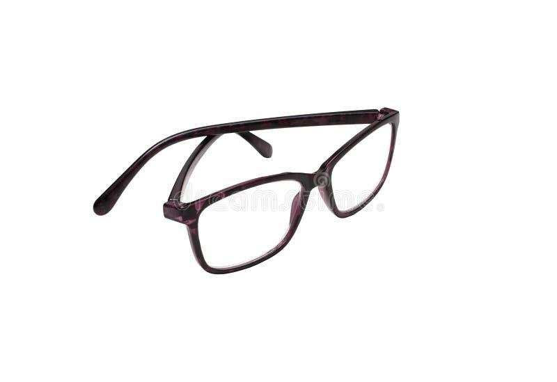 白色隔离眼镜 免版税库存图片