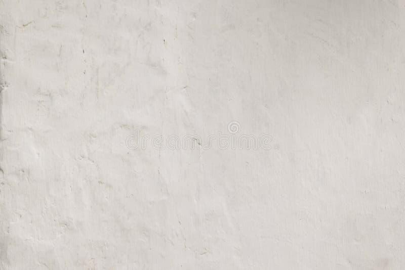 白色难看的东西混凝土墙纹理背景从膏药水泥材料创造在建筑装饰的减速火箭的样式 r 免版税库存照片