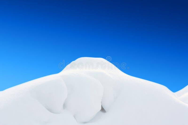白色雪小山landskape 免版税库存照片