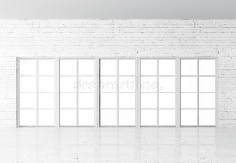 白色顶楼内部 免版税库存照片
