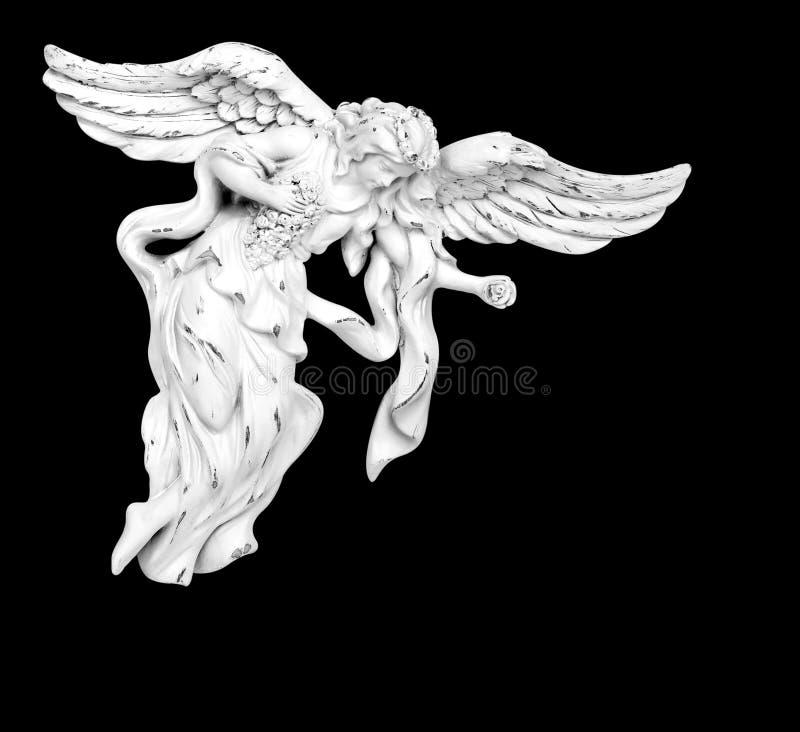 白色飞行天使 免版税库存照片