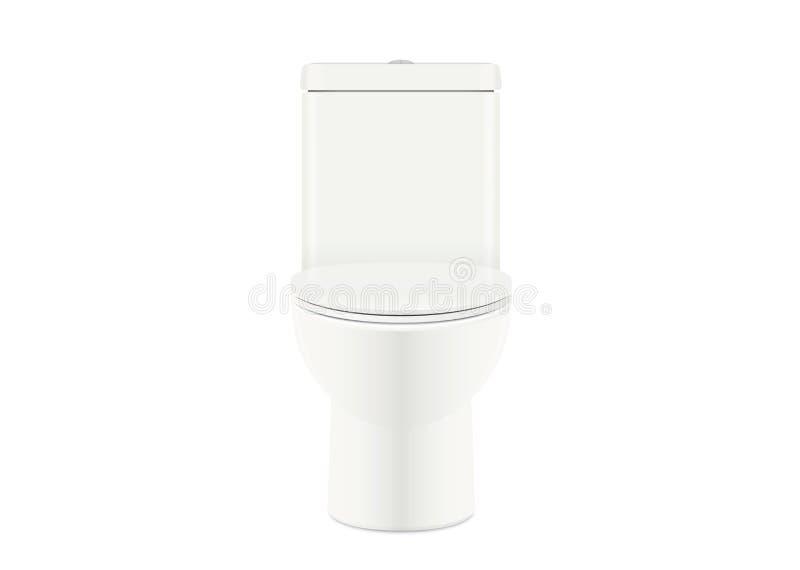 白色马桶开放盖子 库存例证