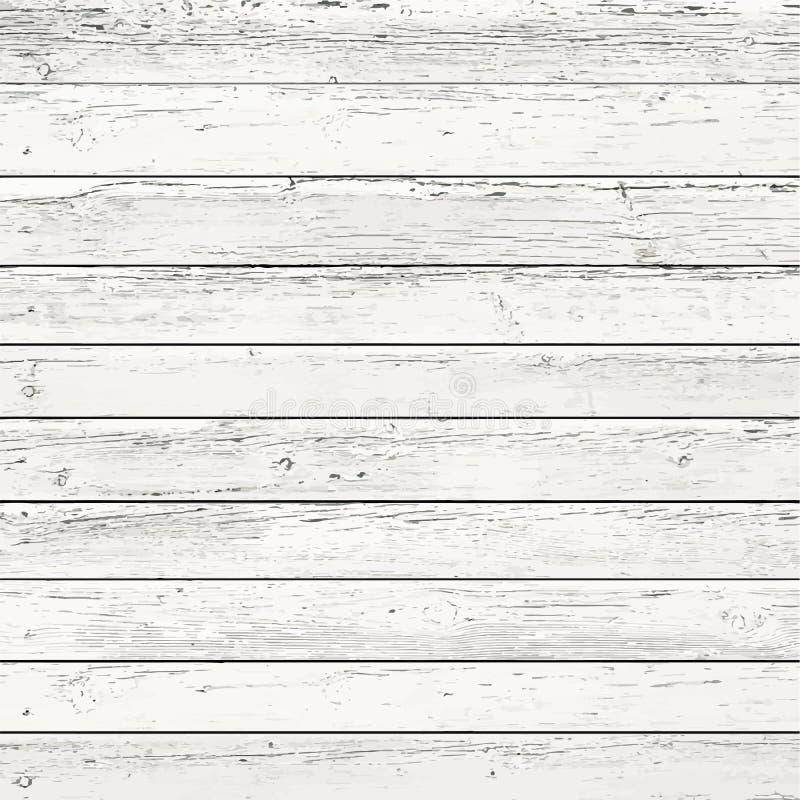 白色,灰色木墙壁纹理,老被绘的杉木 皇族释放例证