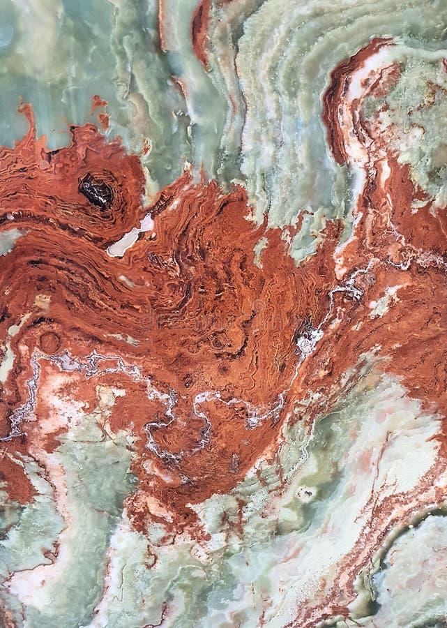 白色,绿色,蓝色,棕色,红色和橙色大理石纹理 免版税库存图片