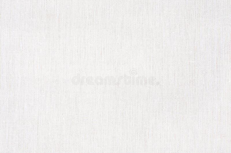 白色织品纹理或背景,白色帆布 免版税库存图片