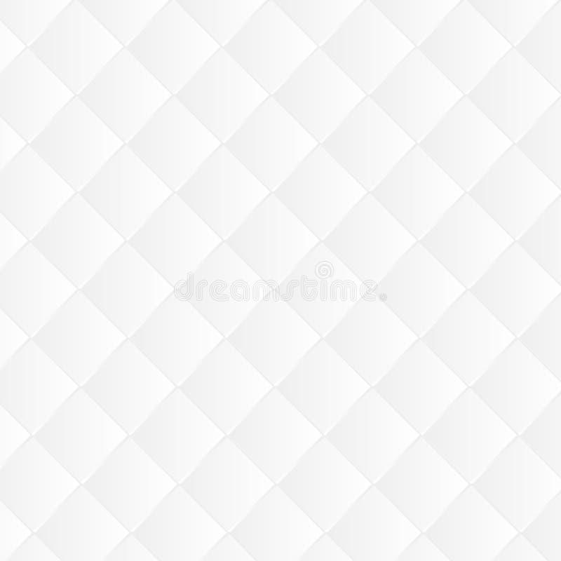 白色&灰色抽象透视几何纹理背景。 免版税库存照片