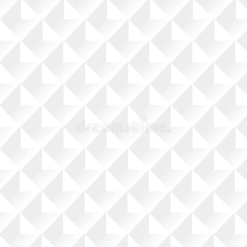 白色&灰色抽象透视几何纹理,导航无缝的背景eps10 库存例证