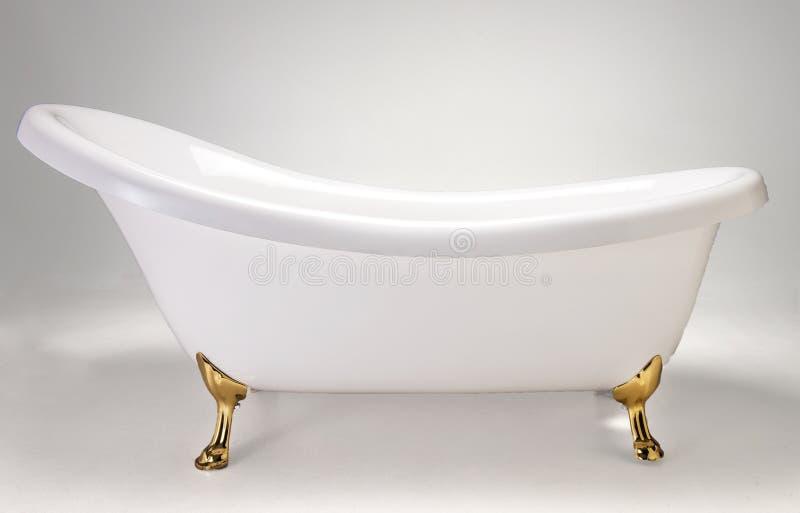 白色浴盆 免版税库存图片