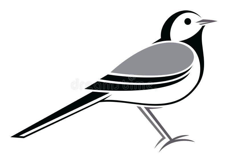 白色令科之鸟 免版税库存图片