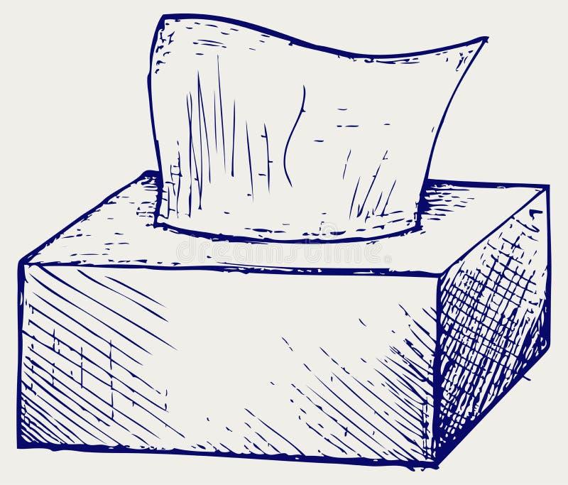 白色组织箱子 库存例证