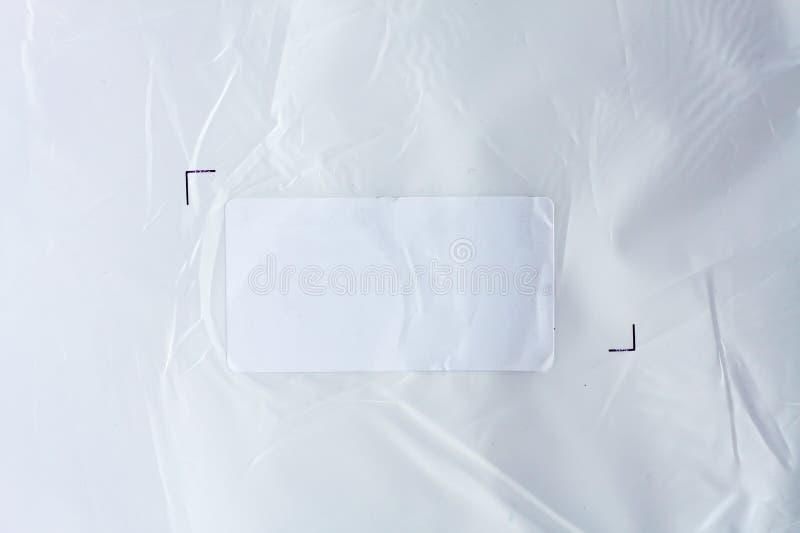 白色贴纸标签 免版税库存照片