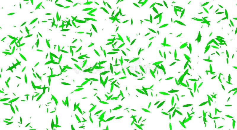 白色bacground,绿色叶子 与绿色叶子的白色设计 皇族释放例证