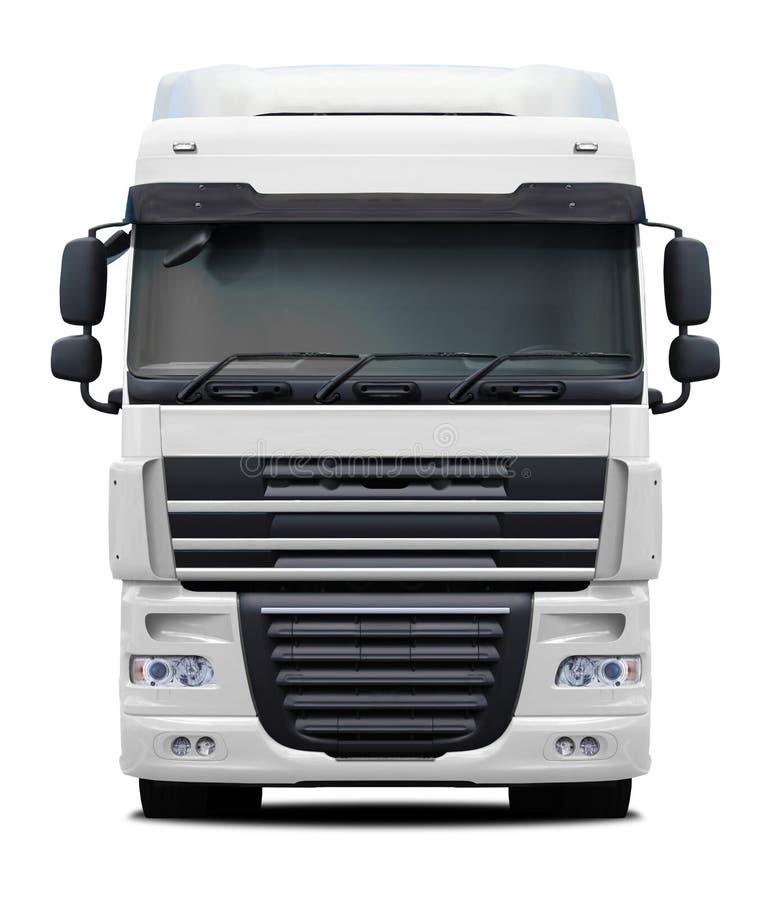白色DAF XF卡车正面图 库存图片