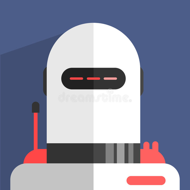 白色Madern设计机器人字符 向量例证