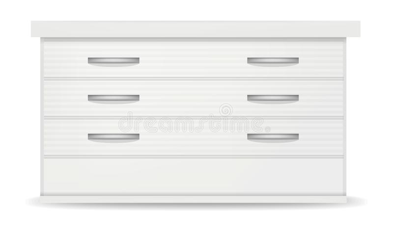 白色nightstand大模型,现实样式 库存例证