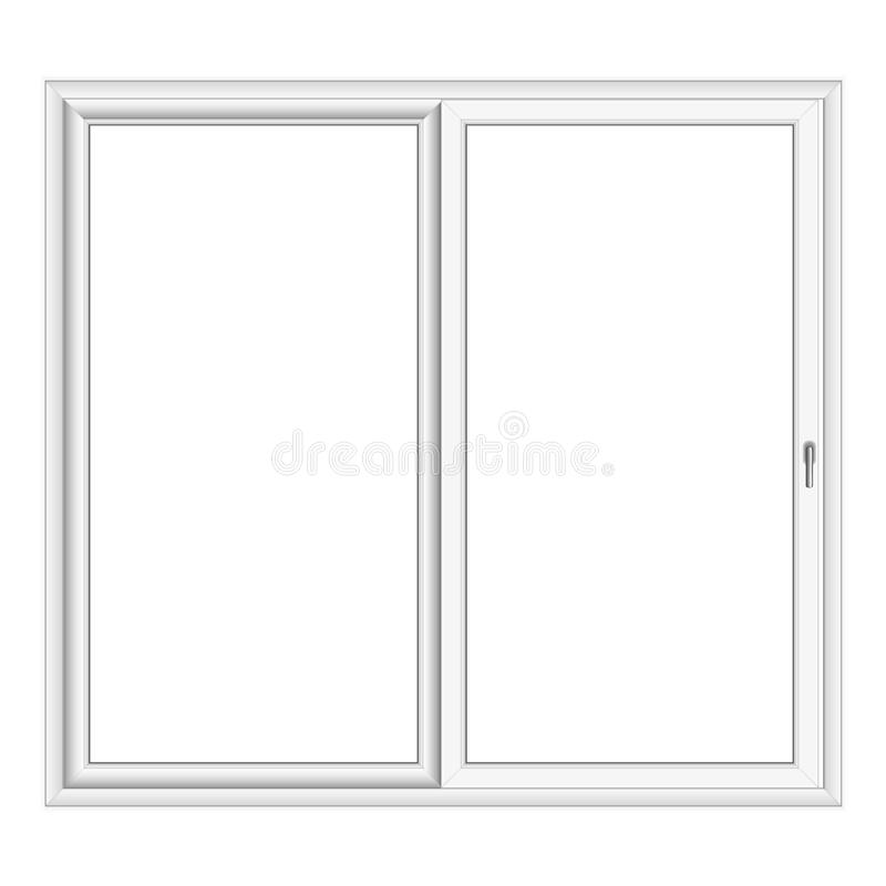白色PVC传染媒介凸出的三面窗 皇族释放例证