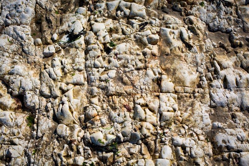 白色Rockface背景结构 库存照片
