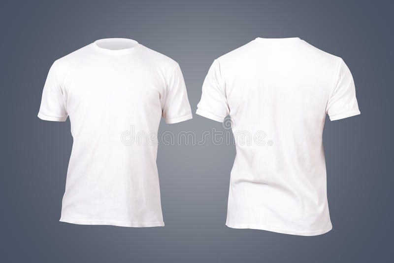 白色T恤杉模板 免版税库存图片