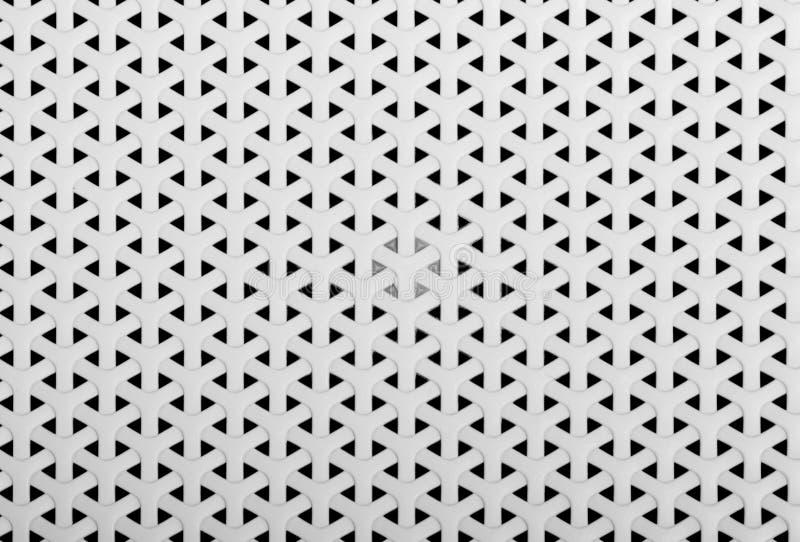 白色Y形状被编织的塑料篮子纹理 正面图 背景 免版税库存照片